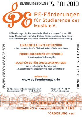 Pe-Förderungen digitaler Flyer
