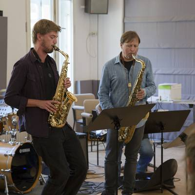 Chris Potter (r.) at Folkwang | Foto: Elsa Wehmeier